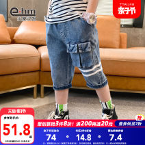 trousers Little elephant ham male 110cm 120cm 130cm 140cm 150cm 160cm blue summer Pant There are models in the real shooting Jeans Leather belt middle-waisted Don't open the crotch Cotton 60.7% polyester 20.5% others 18.8% HD2147 Class B HD2147 Summer 2021