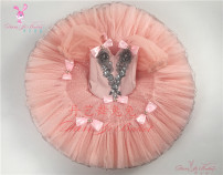 Ballet Costume Dan Yi Ballet female Meat pink national edition, meat pink foreign trade edition S,M,L other DY-01027