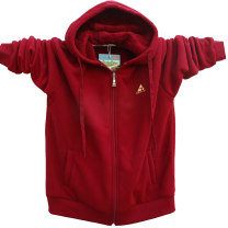 Sweater Fashion City Can't Wait 8838 not dark blue, 8838 not army green, 8838 not red M,L,XL,2XL,3XL,195-4XL,200-5XL Cityscape Cardigan Plush Hood winter easy Home Large size American leisure routine Fleece cotton More than 95% Bag digging with open cut thread zipper
