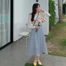 skirt Summer 2021 Average size Jacket, floral skirt Mid length dress commute High waist A-line skirt Decor Type A 18-24 years old 71% (inclusive) - 80% (inclusive) wool Korean version
