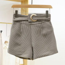 Casual pants Summer 2021 shorts High waist commute 96% and above 1B2277 other S,M Brown, black