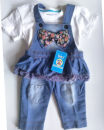 trousers female 90cm blue spring and autumn trousers princess No model rompers High waist Cotton denim Open crotch Cotton 100% Class A 12 months, 6 months, 9 months, 18 months, 2 years old Chinese Mainland