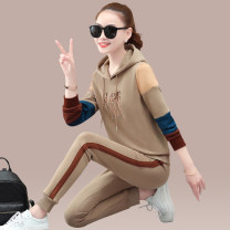 Sweater / sweater Spring 2021 Camel, white, black, haze blue, deep coffee, red M,L,XL,2XL,3XL,4XL,5XL Long sleeves routine Socket Upper and lower sleeve routine Hood easy commute routine letter 25-29 years old Other / other Korean version XD2121A357 pocket cotton Cotton liner