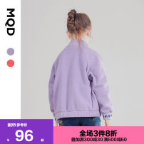 Sweater / sweater MQD Light purple coral red (spot) light purple 1 Begonia powder 1 female 110cm 120cm 130cm 140cm 150cm 160cm spring and autumn nothing Korean version Zipper shirt routine There are models in the real shooting other other Polyester 100% G19330621 Class C Autumn of 2019