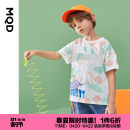 T-shirt MQD 110cm 120cm 130cm 140cm 150cm 160cm male summer Short sleeve Crew neck leisure time cotton Cartoon animation Cotton 100% Class B Spring 2021 3 years old, 4 years old, 5 years old, 6 years old, 7 years old, 8 years old, 9 years old, 10 years old, 11 years old, 12 years old