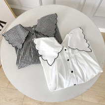 shirt White, checkered M, L cotton 96% and above Long sleeves commute Regular Polo collar routine lattice 18-24 years old Straight cylinder Button pure cotton
