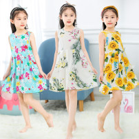 Home skirt / Nightgown Other / other Viscose (viscose) 100% summer female 11-13 years old, 1-3 years old, 3-5 years old, 5-7 years old, 7-9 years old, 9-11 years old Moisture absorption and perspiration Class B cotton