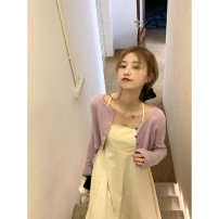 Dress Spring 2021 XS,S,M,L Mid length dress singleton  Sleeveless commute One word collar High waist Solid color zipper Princess Dress other camisole 18-24 years old Type A Korean version backless More than 95% cotton