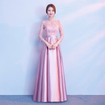 Dress / evening wear Weddings, adult gatherings, company annual meetings, daily appointments XSSMLXLXXL Korean version longuette middle-waisted U-neck