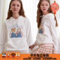 Sweater / sweater Autumn 2020 Light blue, ivory white 160/S,165/M,170/L Long sleeves routine Socket singleton  routine Hood Straight cylinder commute routine Cartoon animation 18-24 years old 96% and above TENEIE WENEIE Britain cotton TTMW202331K cotton Cotton liner