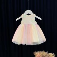 Dress Pink female Other / other 80cm,90cm,100cm,110cm,120cm,130cm,140cm,68cm,74cm,86cm,92m Cotton 95% other 5% summer princess Skirt / vest other Cotton blended fabric Princess Dress 12 months, 6 months, 9 months, 18 months, 2 years, 3 years, 4 years