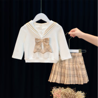 suit Other / other Khaki, green 80cm,90cm,100cm,110cm,120cm female spring princess Long sleeve + skirt 2 pieces routine No model Socket nothing other children birthday 12 months, 9 months, 18 months, 2 years old, 3 years old, 4 years old, 5 years old