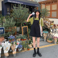 Casual pants Black (pants 6072), black (skirt 6073) S,M,L Summer of 2019 shorts rompers High waist commute Thin money 18-24 years old 96% and above 2019.06.16 JHXC other Korean version pocket cotton
