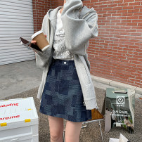 skirt Spring 2021 S,M,L,XL Denim, denim (8-10 days in advance) Short skirt commute High waist A-line skirt other Type A 18-24 years old 2021.03.05 More than 95% other JHXC cotton Button, zipper Korean version 201g / m ^ 2 (including) - 250G / m ^ 2 (including)