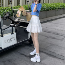 skirt Summer 2020 S,M,L White, black, white (pre-sale 5-7 days), black (pre-sale 5-7 days) Short skirt commute High waist A-line skirt Solid color Type A 18-24 years old 2020.06.16 More than 95% other JHXC cotton fold Korean version 201g / m ^ 2 (including) - 250G / m ^ 2 (including)