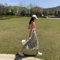 skirt Summer 2020 XS,S,M,L Floral skirt, floral skirt Mid length dress commute High waist A-line skirt Broken flowers Type A 18-24 years old 2020.04.15 More than 95% other JHXC polyester fiber Korean version 201g / m ^ 2 (including) - 250G / m ^ 2 (including)
