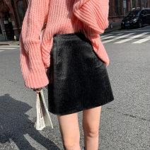 skirt Autumn 2020 S,M,L,XL Black, black (pre-sale 6-8 days) Short skirt commute High waist A-line skirt Solid color Type A 18-24 years old 2020.09.09 More than 95% other JHXC PU Korean version 201g / m ^ 2 (including) - 250G / m ^ 2 (including)