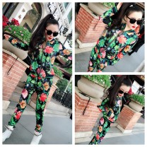 Casual suit Spring 2021 It's black. It's blue M  【 85-100】,L  【100-115】,XL 【115-130】,2XL【130-145】 Over 35 years old 6847 peonies Other / other 96% and above cotton