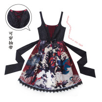 Dress Spring 2017 Black red color black white fog grey SIZE1 SIZE2