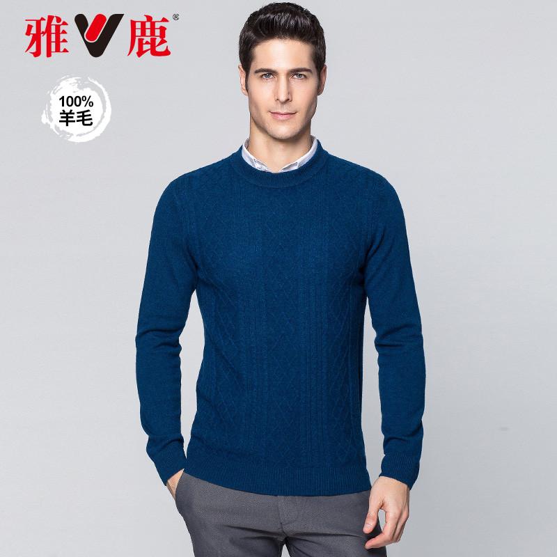 T-shirt / sweater Модный город yaloo / Ялу синий L общепринятый YLHD184063 Шерсть 100% Лето 2018 года Чистый поставщик электроэнергии (только онлайн-продажи)