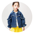 Plain coat Troy female 110cm 120cm 130cm 140cm 150cm Denim Cotton 98% other 2% Autumn of 2019