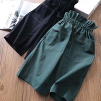trousers Other / other female The recommended height is 90cm-100cm for size 7, 110cm-120cm for size 11, 120cm-130cm for size 13, 130cm-140cm for size 15 and 100cm-110cm for size 9 Black, dark green summer Korean version Casual pants