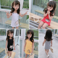 Dress female Other / other 80cm,90cm,100cm,110cm,120cm Other 100% summer leisure time Skirt / vest 2 years old, 3 years old, 4 years old, 5 years old, 6 years old, 7 years old