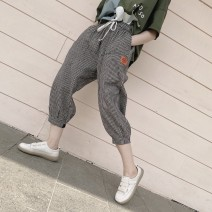 Casual pants Little Hagrid, little Hagrid in stock Average size Spring 2021 Ninth pants loose  Natural waist commute Thin money 81% (inclusive) - 90% (inclusive) cotton Simplicity pocket cotton