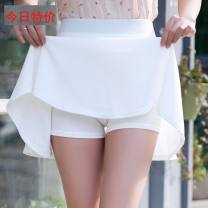 skirt Spring 2017 Short skirt Versatile High waist Pleated skirt Solid color 18-24 years old DQ03 91% (inclusive) - 95% (inclusive) other 3D 251g / m ^ 2 (including) - 300g / m ^ 2 (including)