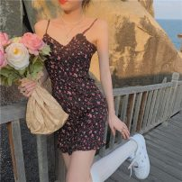 Dress Summer 2021 Picture color S, M Middle-skirt commute High waist camisole 18-24 years old Korean version