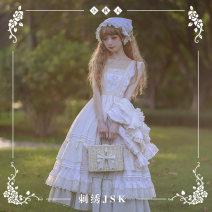 Lolita / soft girl / dress NyaNya Rust red, autumn yellow, light as grass, love jacquard (yellow) L,M,S,XL