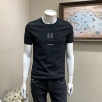 T-shirt Youth fashion Black white grey routine M L XL 2XL 3XL Musstosi Long sleeves Crew neck standard Other leisure spring Cotton 80% polyester 20% youth routine tide Spring 2021 other Embroidery other Exclusive payment of tmall