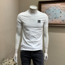 T-shirt Youth fashion thin M L XL 2XL 3XL 4XL Musstosi Short sleeve Crew neck Self cultivation Other leisure summer Cotton 80% polyester 20% youth routine tide Spring 2021 other Pure e-commerce (online only)