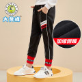trousers Big wasp / Bumblebee female 120cm 130cm 140cm 150cm 160cm 165cm black spring and autumn trousers Korean version No model Sports pants Leather belt middle-waisted cotton Don't open the crotch Cotton 93.8% polyurethane elastic fiber (spandex) 6.2% Class B Autumn 2020