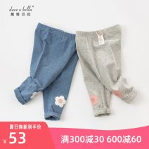 trousers DAVE&BELLA female 66cm,73cm,80cm,90cm,100cm,110cm,120cm,130cm Light grey, blue with flowers spring and autumn trousers Europe and America No model Casual pants Leather belt middle-waisted cotton Open crotch Other 100% DBM17177 Class A DAVE&BELLA Chinese Mainland Zhejiang Province Hangzhou