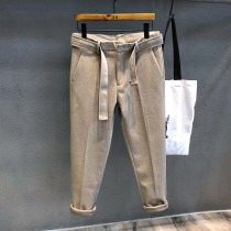 Western-style trousers Others Youth fashion Khaki, dark grey, black 28,29,30,31,32,33,34,36 trousers 13% polyester (4% polyester) terephthalate Slim fit winter leisure time youth tide Solid color 2020 No iron treatment polyester fiber 80% (inclusive) - 89% (inclusive)