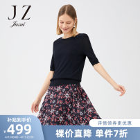 Dress Spring 2021 Huazhangqing XS S M L XL 2XL 3XL 4XL Mid length dress Two piece set Short sleeve commute Socket 30-34 years old Jiuzi Simplicity JWZQ31501 30% and below nylon Viscose (viscose) 80.6% polyamide (nylon) 19.4%