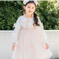 Dress White, pink, blue 20657, pink 20657, pink 21001 female Other / other 100cm,110cm,120cm,130cm,140cm,150cm Other 100% spring and autumn lady Long sleeves Dot other Splicing style Class B Seven, eight, three, six, five, four, ten, nine Chinese Mainland