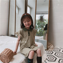 Dress female Other / other Cotton 100% summer literature Short sleeve other Pure cotton (100% cotton content) Lotus leaf edge Class A 12 months, 18 months, 2 years old, 3 years old, 4 years old, 5 years old, 6 years old, 7 years old, 8 years old, 9 years old, 10 years old Chinese Mainland