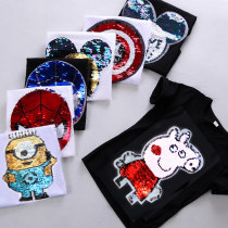 T-shirt Other / other neutral summer Short sleeve Crew neck Versatile No model nothing cotton Cartoon animation Cotton 95% polyurethane elastic fiber (spandex) 5% Class B Sweat absorption