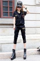Fashion suit Summer 2021 Other / other Yi 393-ku 993 suit 51% (inclusive) - 70% (inclusive) cotton black S,M,L,XL