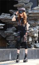 Fashion suit Summer 2021 S,M,L,XL black Other / other 115-005 set 51% (inclusive) - 70% (inclusive) cotton
