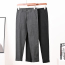 Casual pants Others Youth fashion Black stripe, gray stripe 30,31,32,33,34,35,36,38 trousers Travel? Straight cylinder