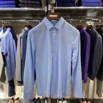 shirt Fashion City Lucadilon 46,48,50,52,54,56 wathet routine Pointed collar (regular) Long sleeves standard Other leisure spring 120191011-33 youth Cotton 53.3% Silk 46.7%