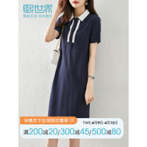Dress Summer 2021 Royal Blue - Reserve S M L XL XXL Middle-skirt singleton  Short sleeve commute other other Others 30-34 years old Sllsky / Xi world Simplicity 142SL8074 More than 95% other Other 100%