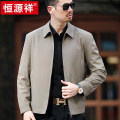 Jacket hyz  Fashion City thin easy go to work spring Long sleeves Wear out Lapel Business Formal  middle age routine Zipper placket 2021 Cloth hem No iron treatment Loose cuff Solid color More than two bags) Side seam pocket nylon 80% (inclusive) - 89% (inclusive)