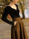 Fashion suit Winter 2020 S,M,L VELVET TOP + tweed skirt