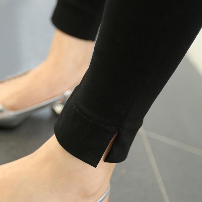 Leggings Spring of 2018 black M L XL 2XL 3XL 4XL routine Capris / Capris nylon 51% (inclusive) - 70% (inclusive)