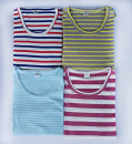 Middle aged and old women's wear Spring 2021 XL (recommended 95-110kg), 2XL (recommended 110-130kg), 3XL (recommended 130-150kg), 4XL [recommended 150-165kg] Home T-shirt easy singleton  stripe Over 60 years old Socket thin Crew neck routine routine Other / other Chemical fiber, cotton, cotton fiber