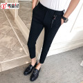 Casual pants Others Youth fashion Haze, blue, black 28,30,32,34,29,31,33 routine Ninth pants Other leisure Self cultivation Micro bomb Four seasons youth tide 2019 middle-waisted Little feet Polyethylene terephthalate (PET) 70% viscose (viscose) 30% Tapered pants Decorative loop Solid color other